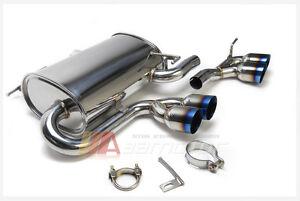 Titanium 4 Tips Quad Rear Exhaust fit for BMW E90 E92 E93 L6 3-Series 6 Cylinder