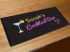 Personalizzato Qualsiasi Nome Cocktail bar runner counter tappetino Pub Mazze &