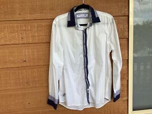 John Lennon By English Laundry - Mens White Long Sleeve Dress shirt - Size M
