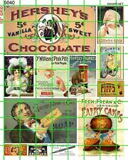 5040 DAVE'S DECALS HO SCALE CHOCOLATE SOAP FAIRY CAKES RAZORS HUMBER SET