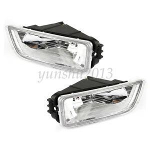 Front Bumper Fog/Driving Light Assembly Black For Honda Accord 2003-2007 4-Door