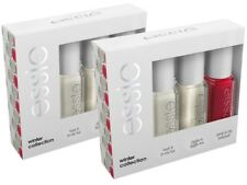 2 Pack Of 3 New Essie Winter Collection Mini Nail Varnish Kit Chip Resistant 5ml