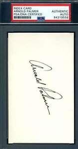 Arnold Palmer PSA DNA Coa Autograph Hand Signed 3x5 Index Card