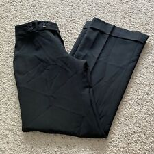 New BANANA REPUBLIC Women's 2 JACKSON Fit Black Pants Wide Leg Lined Wool NWT