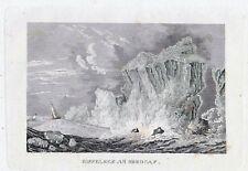 EISFELSEN AM NORDCAP-StSt. um 1837-9,0x13,5 cm