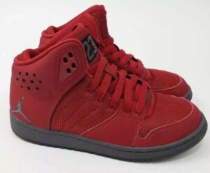 Jordans 4.5 Youth 1 Flight 4 Premium Red Boys Sneakers Gray Nike Air Shoes 23