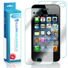 2x iLLumi AquaShield HD Front Screen + Back Panel Protector for Apple iPhone 4S