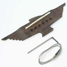 Eagle forme string palissandre acoustic guitar bridge, selle & piezo B96