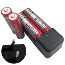 4 X 18650 6800mAh 3.7V Li-ion Rechargeable Battery & 4.2V Dual Charger EU Plug