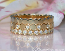 Drei attraktive Diamanten Ringe (Stacking Rings), 0.45 ct. W-SI GG750, ab 3.400€