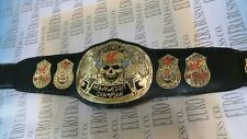 New WWF Stone Cold Smoking Skull Wrestling Belt Adult Size With Bag