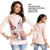 Maglia da Donna T-Shirt a Maniche Lunghe Blusa Maglietta per Fashion alla Moda
