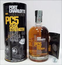 Scotch Whisky PORT CHARLOTTE PC5 2001-2006 Cask Strength con Tubo in Latta