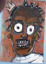 vintage Jean-Michel Basquiat NYC '80 authentic street Graffiti postcard portrait