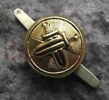Antique Czechoslovakia Armed Forces Metal Crossed Sword Uniform Buttons 1.5cm