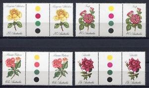40635) AUSTRALIA 1982 MNH** Roses 4v gutter pair