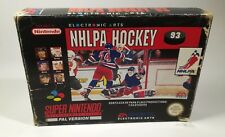 NHLPA HOCKEY SUPER NINTENDO EA SPORTS PAL ESPAÑOL AÑO 1993 ORIGINAL