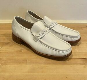 NEW RARE VTG Florsheim Imperial White Loafer Dress Shoes Men's Size 11.5 C