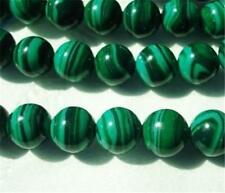 "6mm Green Malachite Gemstone Round Loose Beads 15"" AA"