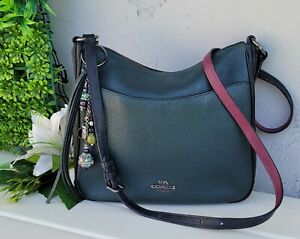 COACH 38696 CHAISE colorblock Crossbody  purse shoulder messenger bag green pink