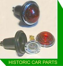 Pair (2) Rear RED Glass BRAKE/SIDE LIGHT UNITS replace Lucas L488 1940-60s