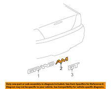 Pontiac GM OEM 2000 Grand Am Trunk Lid-Emblem Badge Nameplate 22623642