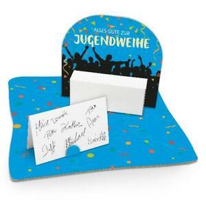 itenga Geldgeschenk Verpackung Jugendweihe mit Bodenplatte und Geschenkkarte