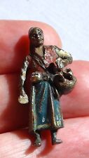 "ANTIQUE 19c VIENNA AUSTRIA (BERGMANN?)BRONZE COLD PAINT FIGURE""ARAB MERCHANT"""