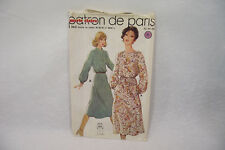 Ancien PATRON MARIE CLAIRE 70's ROBE n°8840 Taille 42-44-46