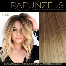 "16"" OMBRE Stick i Tip Real Human Hair Extensions Double Drawn Brown/Blonde 8-24"