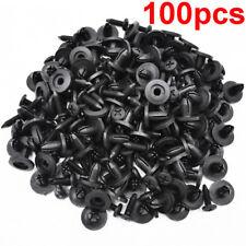 100pcs Universal Car Truck Bumper Fender Rivet Fastener Clips 6mm Hole Black