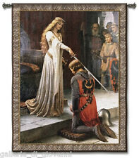 "Medieval Knight & Lady 31""x 40"" Wall Art Tapestry + FREE  ROD  Accolade"