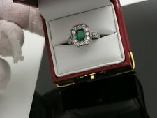 UGL CERTIFIED 2.31 CT. GORGEOUS EMERALD & DIAMOND RING 18K GOLD
