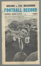 1970 VFL Football Record Geelong v South Melbourne August 15 Cats Swans 2