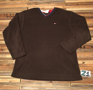 vintage tommy hilfiger sweatshirt Pullover Fleece Mens Large 90s 00s Vtg Z1