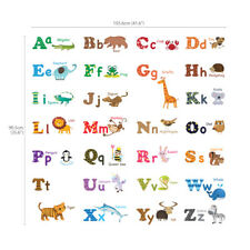 Decowall Animals Alphabet Nursery Kids Removable Wall Stickers Decal DW-1308
