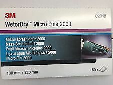 3M 02049 Wet/Dry Abrasive Paper  P2000 50 SHEETS