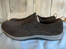 Lands End All Weather Comfort Shoes Mocs Slip Ons size 11 Dark Brown
