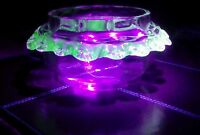 VICTORIAN CLEAR GLASS BON BON DISH WITH APPLIED URANIUM GLASS FRILL