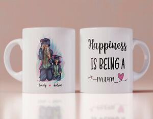 Personalised Mothers Day Mug Mum Son Costume Birthday Ceramic Coffee Tea Cup
