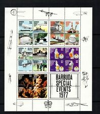 Barbuda 1977 Events Naval Zepplins Space Lindbergh Reuben Sheet Sc 363-382 MNH