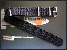 18mm SS Braided Tropic NATO g10 woven Nylon watch strap German Bonded IW SUISSE