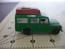 Old Vtg Matchbox Lesney #12 Land Rover Safari Diecast Toy Car Luggage Rack Green