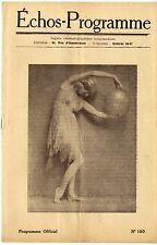 ECHOS-PROGRAMME n°100 Miss Flora le Breton ARMAND BERNARD Planchet 1924