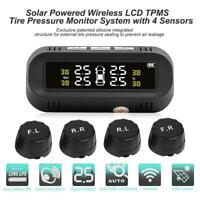 Solar Auto Reifendruckkontrollsystem Wireless TPMS mit 4 Externe Sensoren DE