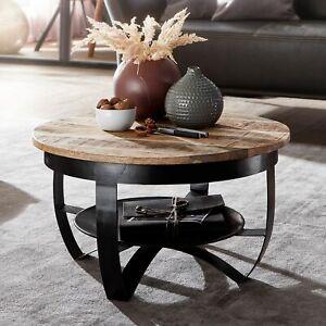 FineBuy Couchtisch 60 cm Wohnzimmertisch Holz Massiv Tisch Wohnzimmer Sofatisch