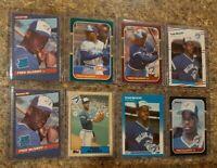(8) Fred Mcgriff 1986 1987 Donruss Fleer Topps Leaf Rookie card lot RC Blue Jays