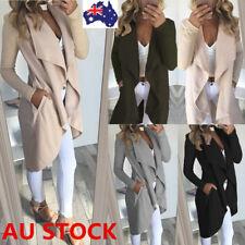 Women Long Sleeve Waterfall Sweater Cardigan OL Office Jacket Loose Coat Outwear