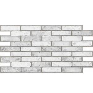 3D Grey Brick Stone Urban Industrial PVC Interior Wall Panels Kitchen Cladding