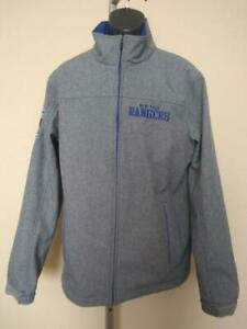 New-Minor Flaw-NY Rangers Mens Size L Large Gray G-III Pullover Jacket
